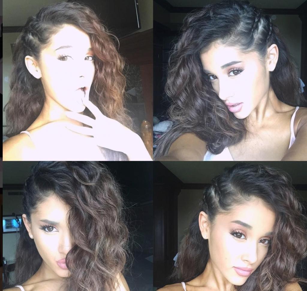 Ariana Grande Frisur Haare Locken