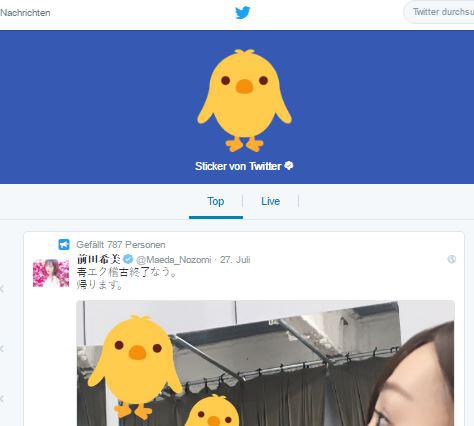 Neue Twitter Sticker
