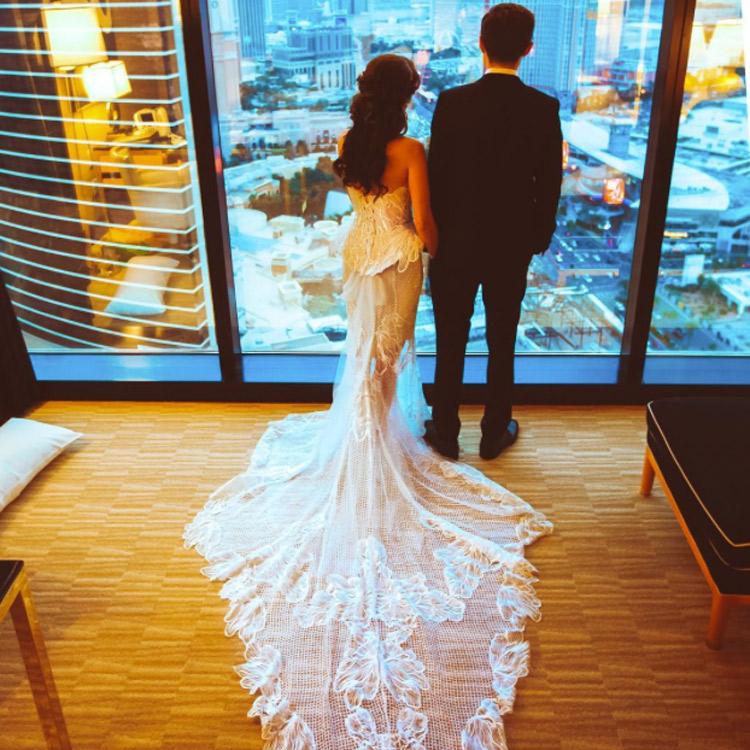 Paola Maria im Brautkleid bei ihrer Hochzeit mir Sascha in Las Vegas