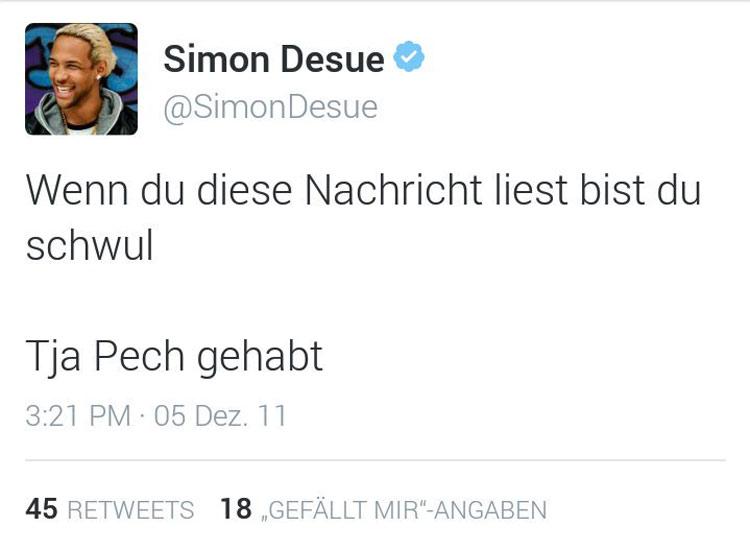 simon-desue-schwul-tweet