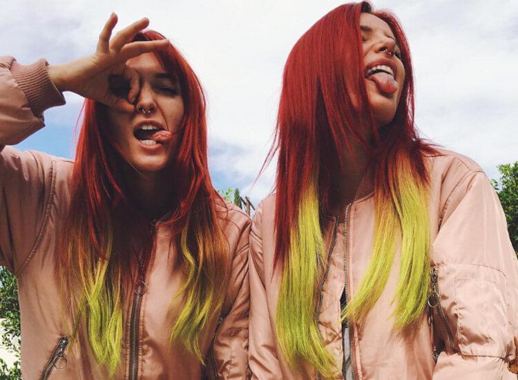 Bella Thorne grüne Haare