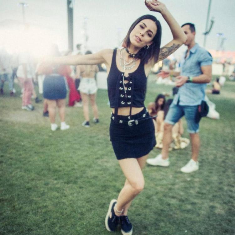 Lena mager auf dem Coachella 2017