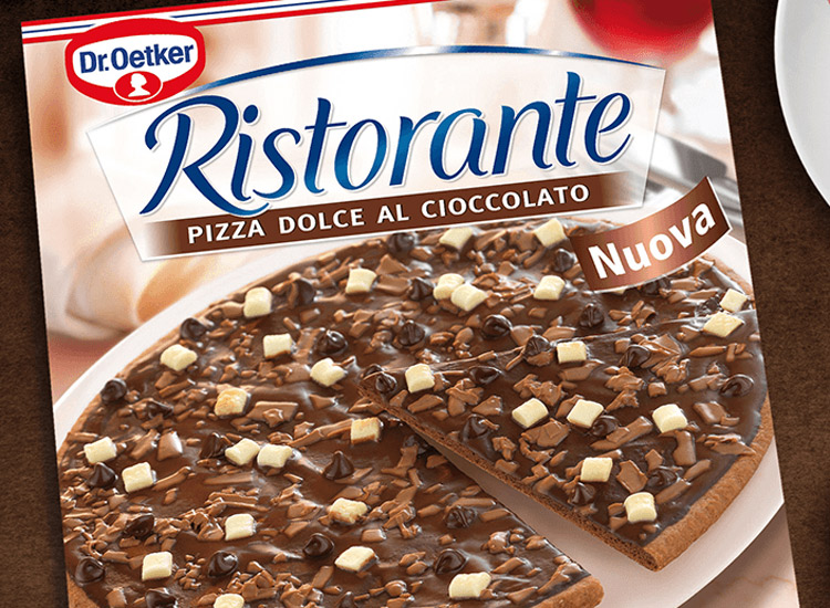 Jetzt gibt es die Ristorante Schoko-Pizza von Dr. Oetker!