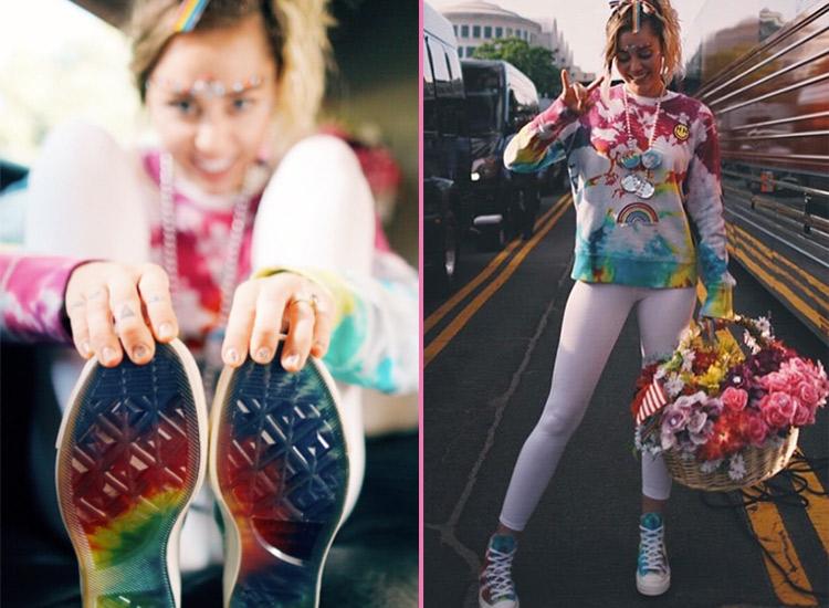 Miley Cyrus Converse Pride Chucks Fotos: Instagram
